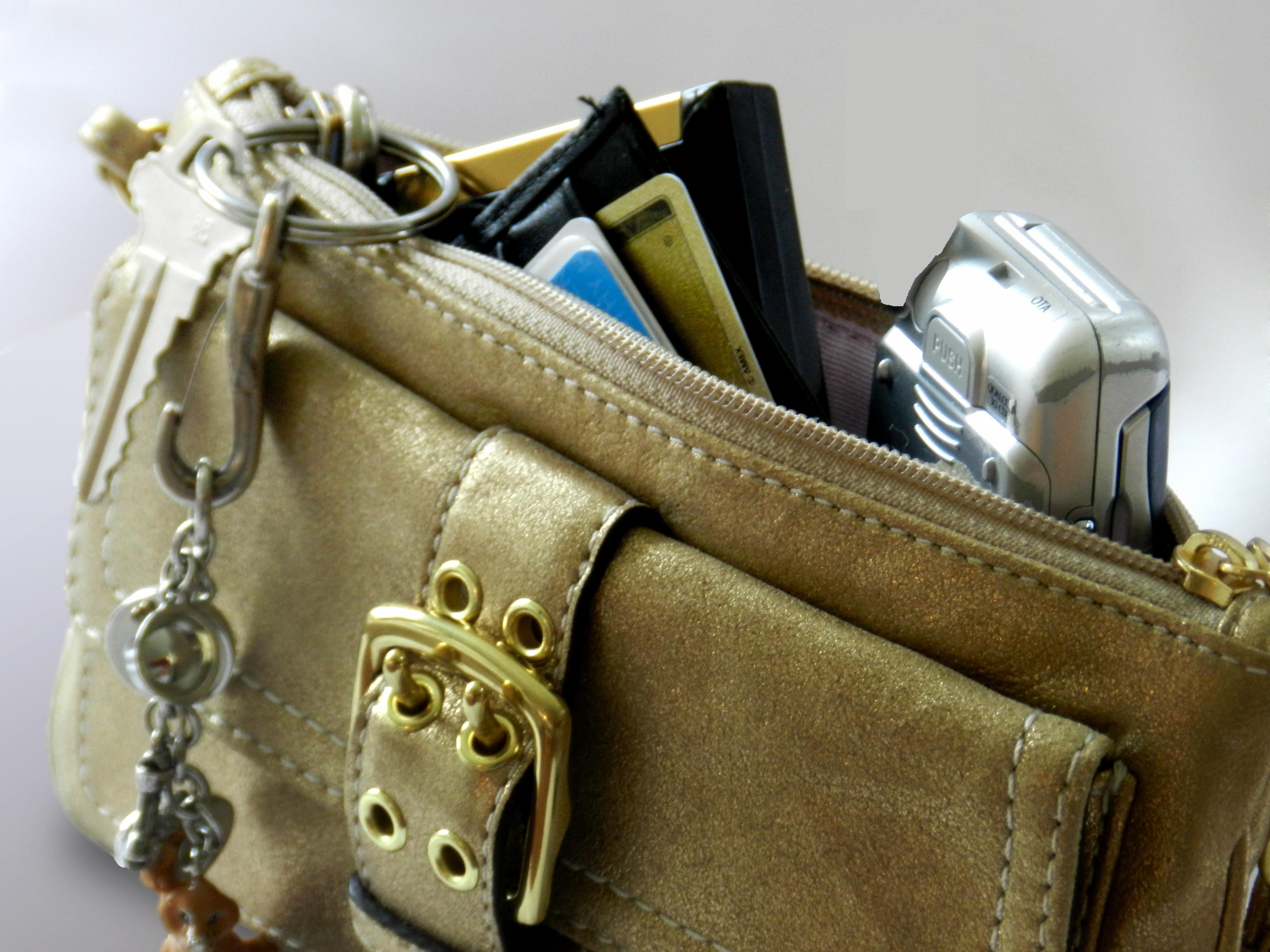 handbag purse example external battery pack