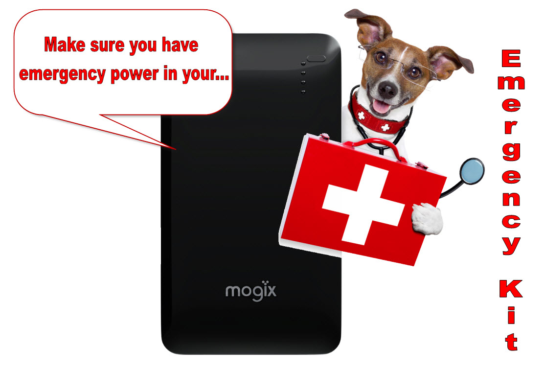 Add a portable phone charger to your emergency preparedness kit!