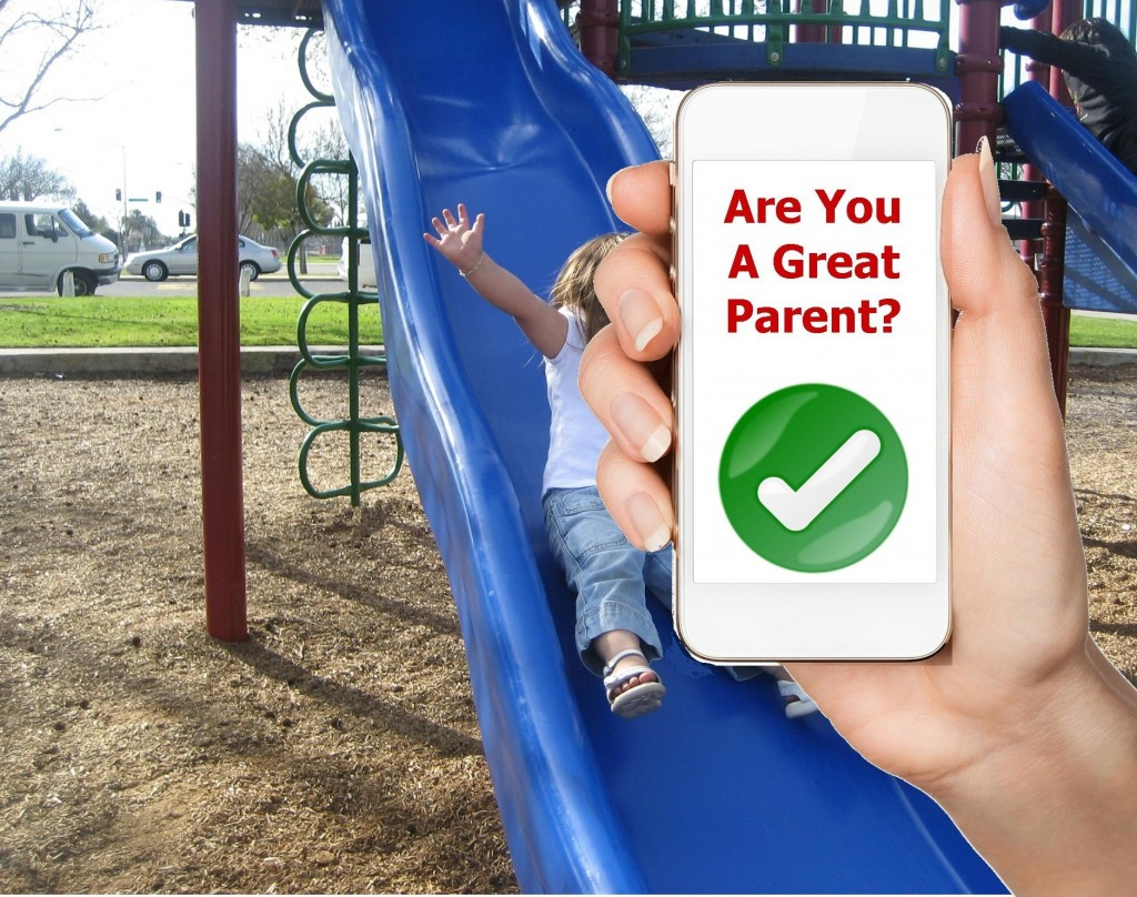 Smartphone trends parents playground park